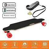 Laiozyen Longboard Elektromotor Skateboard E Skateboard, Longboard LG-Akku mit Fernbedienung, 20Km/h Skaten Cruiser Boards (Color2)