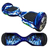 Balance Scooter / Hoverboard Blaue Flammen (1) Aufkleber