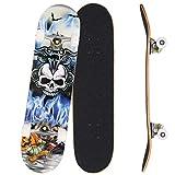Bunao Skateboard Komplettboard 31 x 8 Zoll mit ABEC-7 Kugellager 9-lagigem Ahornholz für Kinder Jungendliche und Erwachsene, Belastung 100kg (Farbe 6)