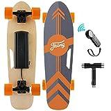 Nesaila 70cm(27') Elektro Skateboard mit Drahtloser Bluetooth Fernsteuerung, Elektro Scooter longboard E-Skateboard für Erwachsene Jugendliche, 7-lagiges Ahorn| 350W Motor| Max. Geschwindigkeit 20km/h