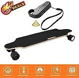 fiugsed Elektrisches Skateboard - 27,5 Zoll Longboard Skateboard mit Funkfernbedienung auf Vier Rdern,Hchstgeschwindigkeit 20km/h zu Senden des Ladegerts Fernbedienung (Schwarz-Style2)
