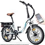 BLUEWHEEL 20' klappbares E-Bike I Deutsche Qualitätsmarke I Shimano 7 Gang-Schaltung I EU-konform Klapprad mit App + 250 W Motor + Batterie abnehmbar | Electric Bike 25 km/h bis zu 150 km | BXB55