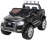 Actionbikes Motors Kinder Elektroauto Ford Ranger Wildtrak - Allrad 4x4 - Touchscreen - 2 Sitzer - 4 x 45 Watt Motor- 2,4 Ghz Rc Fernbedienung - Elektro Auto für Kinder ab 3 Jahre (Allrad Schwarz)