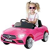 Actionbikes Motors Kinder Elektroauto Mercedes Benz CLS 350 - Lizenziert - Rc 2,4 Ghz Fernbedienung - Led - Soundmodul - Elektro Auto für Kinder ab 3 Jahre - Kinderauto Spielzeug (Pink)