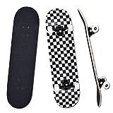 YUDOXN Komplettes Skateboard für Anfänger, Jugendliche, Kinder, Mädchen, 7 Schichten aus Ahornholz mit ABEC-7-Kugellagern, Skateboard, Longboards