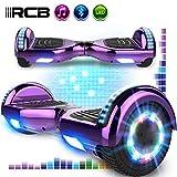 RCB Hoverboards 6,5 Zoll Elektro Skateboard fr Kinder und Jugendliche Elektroroller mit Bluetooth - LED Licht Segway mit leistungsstarkem Motor 700W Geschenk fr Kinder