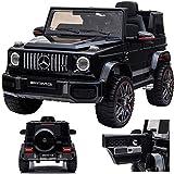 SIMRON Mercedes G 63 G63 AMG V8 Biturbo Kinderauto Kinderfahrzeug Kinder Elektroauto Jeep, SUV, Geländewagen, 12V / 2X Motoren (Schwarz)